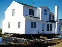 This home was moved on a barge in Long Beach Island and moved to be donated to the Habitat for Humanity.