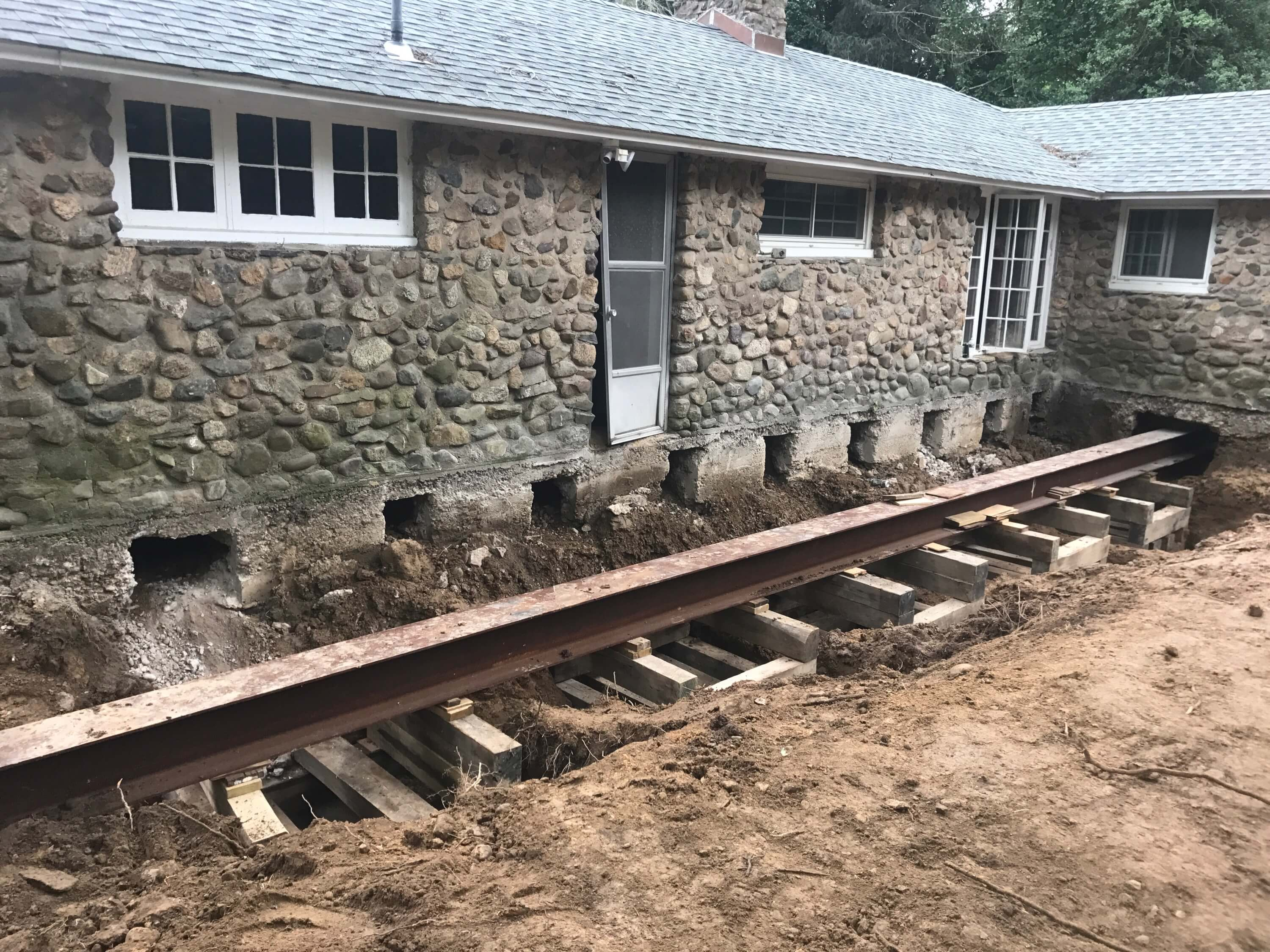 Log foundation repair Connecticut