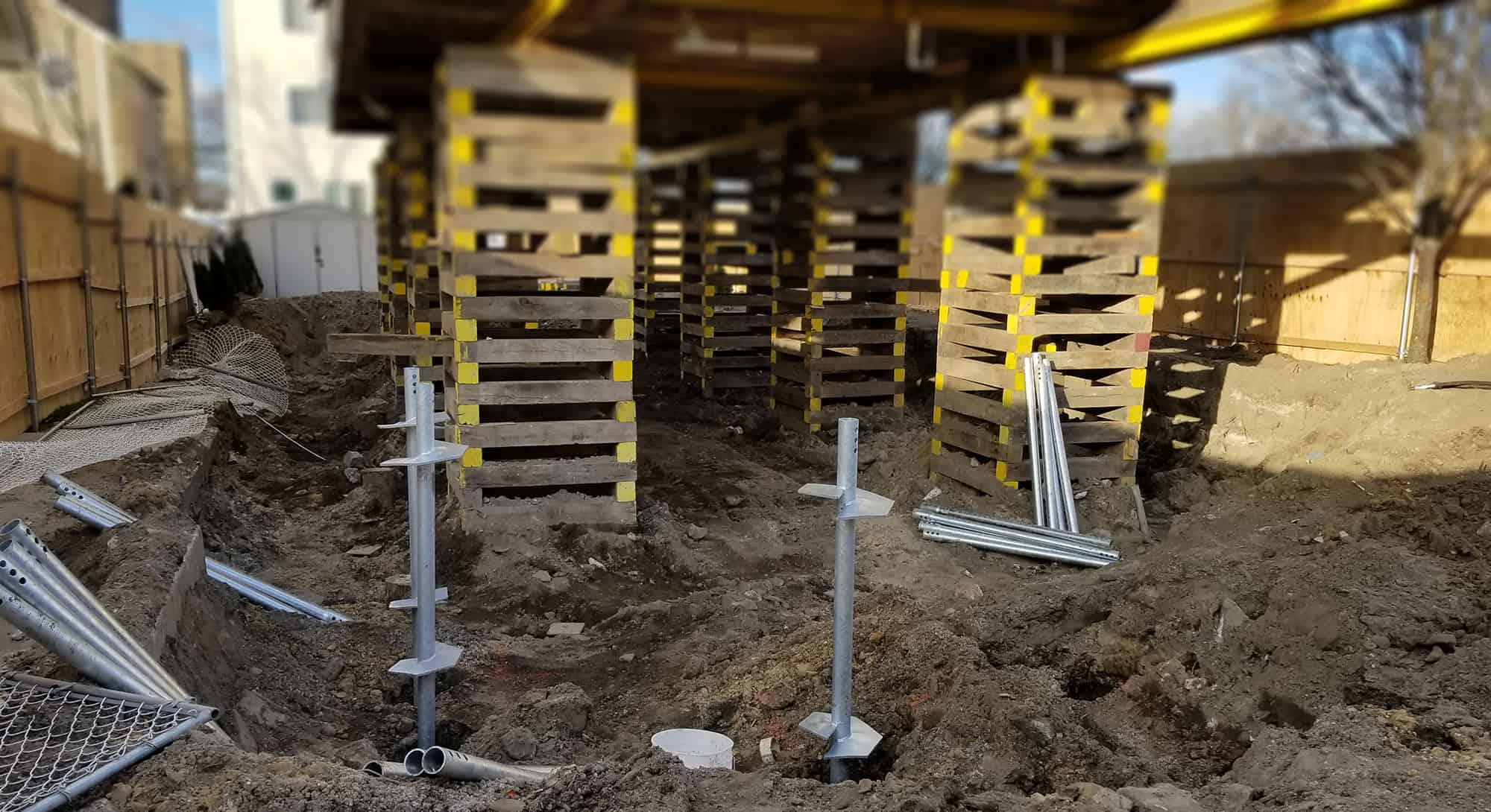 Helical Pile foundation repair Connecticut